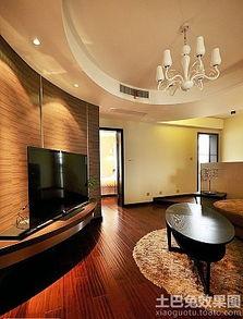 现代风格客厅电视背景墙壁纸图片-电视背景墙壁效果图片