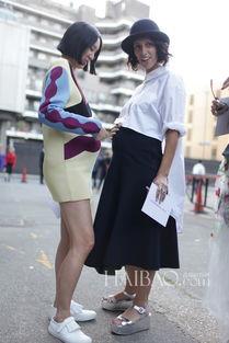 ...志主编Eva Chen (左 ) 、时尚顾问Yasmin Sewell (右)-街拍 人家...