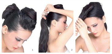 ...先将头发分成两部分,再把头顶部位的头发分出一个U型区域.2.将U...