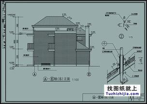 ...带阁楼的小二层房屋设计图8x11米