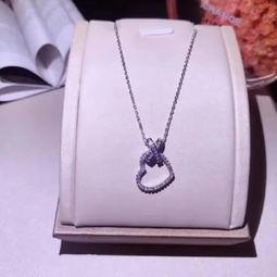 ...巴黎经典款 向约瑟芬皇后致敬 交叉爱心钻石项链 S925 姬儿饰品的美...