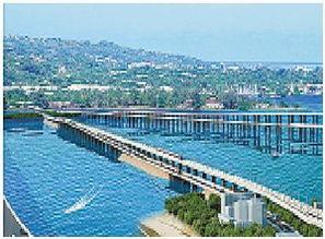 高集海堤主线桥年底全面完工 目前公路桥已完工