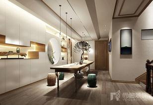 新中式开放书房装修
