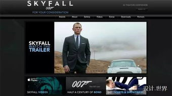 电影宣传网站设计案例 电影院设计案例
