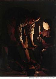 ...-图尔 木匠圣约瑟 约1642年布面油画,137cmx102cm 卢浮宫博物馆...