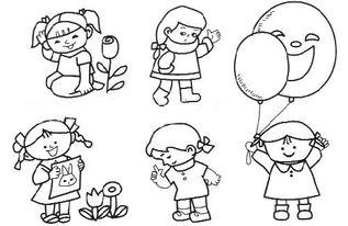 幼儿人物简笔画大全 我爱运动