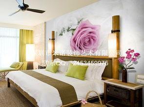 大型壁画3D立体电视背景墙纸壁纸卧室床头温馨玫瑰花瓣 婚房装