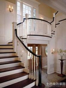 欧式别墅楼梯扶手设计效果图-楼梯装修效果图大全2017图片 楼梯装修...
