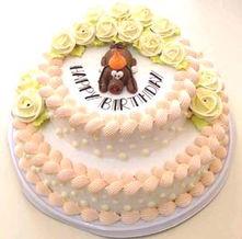 商品名称: 双层生日蛋糕-东台网上花店 商品内容 10寸加8寸 鲜奶蛋糕