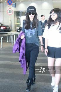 杨颖就是仗着颜好乱穿,这紫色外套是什么鬼 裤子也太皱了吧