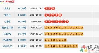 2014年11月28日中国体育彩票开奖公告 图文