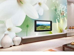 ...简约蒲公英白色玉兰花电视背景墙图片设计素材 高清psd模板下载 92....