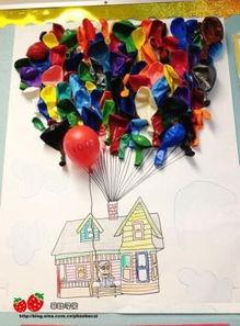 气球上的蝴蝶结
