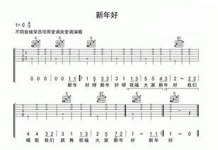 吉他六线谱入门图解-最简单易学的吉他谱