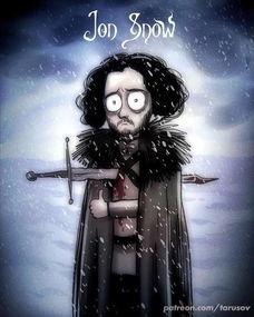 著名俄罗斯漫画家笔下的 冰与火之歌 ,龙母雪诺夜王都这么卡哇伊