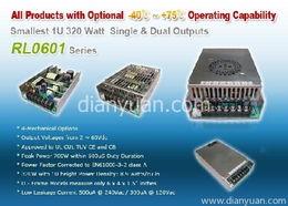320W 1U 高效率小尺寸单组输出开关电源 RL0601 系列,需要求购320...
