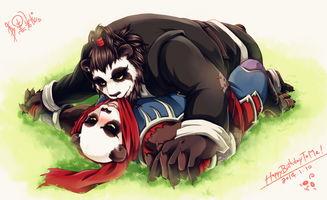 表情 放开那只熊猫让我来被推倒的小受掌门 52PK魔兽世界游戏图片 ...