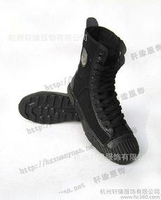 511高帮作战鞋靴 特训靴 作训鞋 户外鞋 黑色高帮帆布鞋
