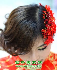 今年漂亮中式短发新娘发型 让你成最美新娘