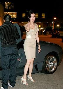 名车作为背景的T型台上,众名模或性感或成熟,各自展现出不同的迷...