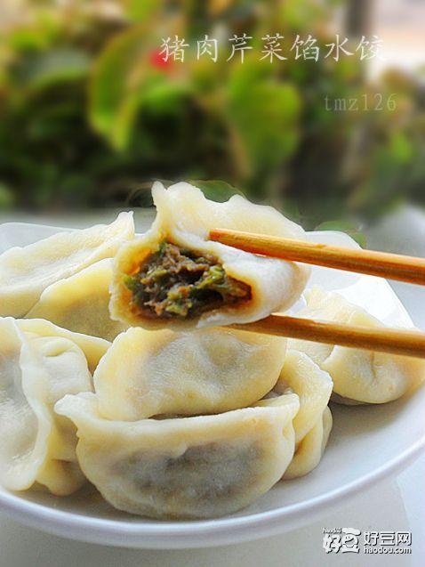 ...猪肉芹菜馅水饺怎么做好吃,猪肉芹菜馅水饺的家常做法 tmz126