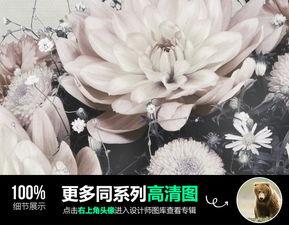 现代简约黑白清新静物花卉装饰画餐厅背景墙