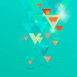 矢量彩色三角背景素材模板免费下载 ai格式 编号27738663 千图网