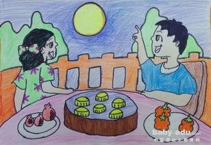 关于中秋节儿童画图片大全【46幅】_露西学画画-关于中秋节的简笔画...