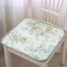 圣美绮冰丝夏凉椅垫格子欧式夏凉餐椅垫椅子坐垫凉席垫可定做