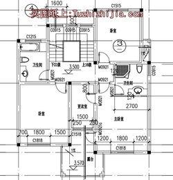 130平带阁楼两层半别墅房屋设计图,含外观效果图