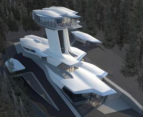 似宇宙飞船的超模豪宅