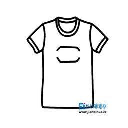 t恤简笔画,服装简笔画图片大全,儿童简笔画T恤衫的画法,短袖T恤...
