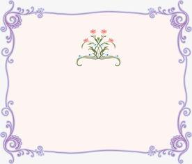 手绘小清新素材花边边框展示
