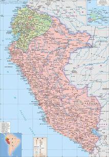 秘鲁地图中文版全图