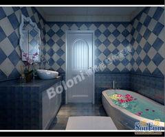 ...0平四居室户型简约地中海风格装修设计济南博洛尼钛马赫设计师卢...