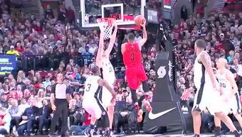 2015年2月26日NBA常规赛 开拓者vs马刺 全场录像回放