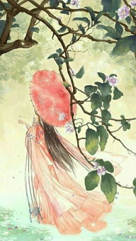 古风美女手绘过程图,唯美古风手绘美女淡雅