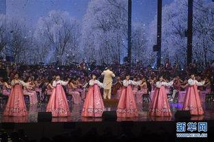 朝鲜艺术团在韩国江陵举行首场艺术演出