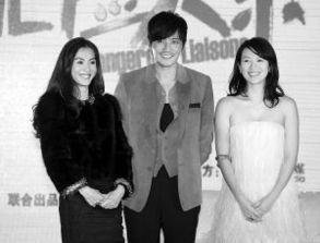 ...张柏芝(左)及韩国演员张东健(中)-章子怡张柏芝张东健演绎 危...