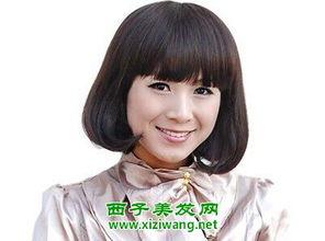 40岁圆脸女人发型图片 气质又时尚