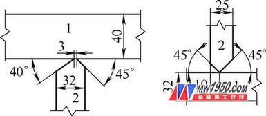图4 H型钢和T型钢坡口形式及尺寸示意 1. 翼缘板 2. 腹板-十 字形钢构件...
