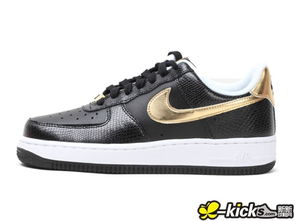NIKE AIR FORCE 1 女 2013 黑金 -NIKE FORCE 1 女 2013 黑金 ...