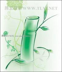 CDR绘制水彩竹子