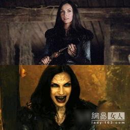 说到最触目惊心的女巫,还要数《... 中饰演诱惑性感强大的的吸血鬼老...