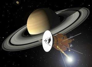 ...绘制的卡西尼号宇宙飞船掠过土星时的情景-土星北半球超级风暴酷...