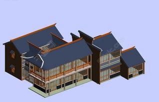 中国古代时尚建筑客栈设计图免费下载 max格式 编号16456046 千图网