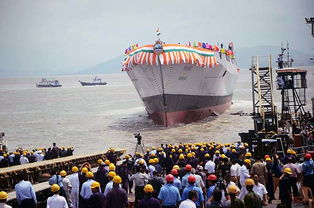 图为2016年9月17日,印度国产驱逐舰