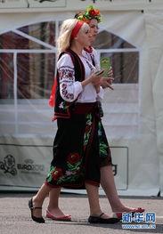 基辅街头的乌克兰美女