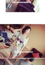 红8027夏季新款唐老鸭韩版卡通图案韩国站短袖长网络红人宽松t恤