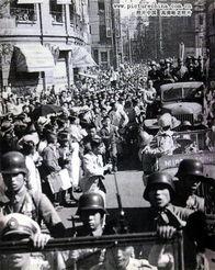 日本战犯被押赴刑场